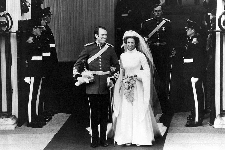 Princesa Ana, el día de su boda con Mark Phillips