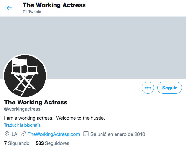 The Working Actress