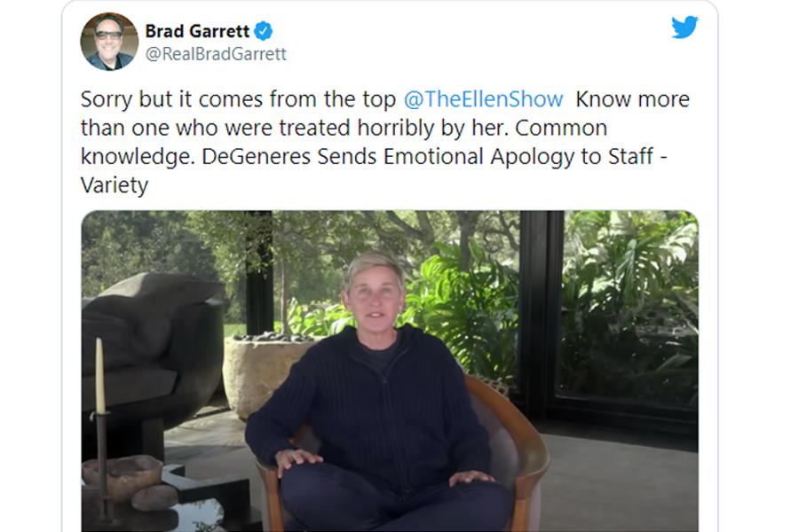 Brad Garrett estado twitter