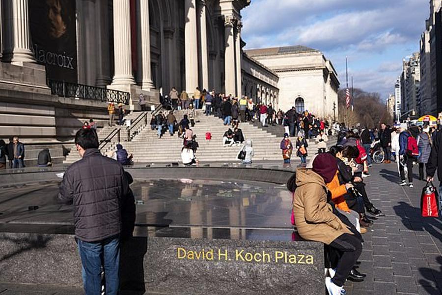 visitantes afuera del Museo Metropolitano