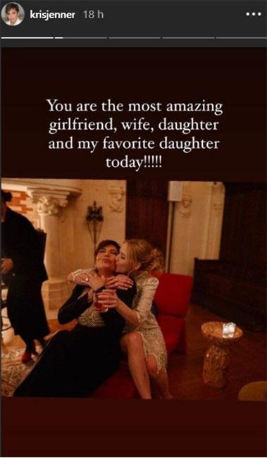 Kris Jener felicita a Jennifer Lawrence