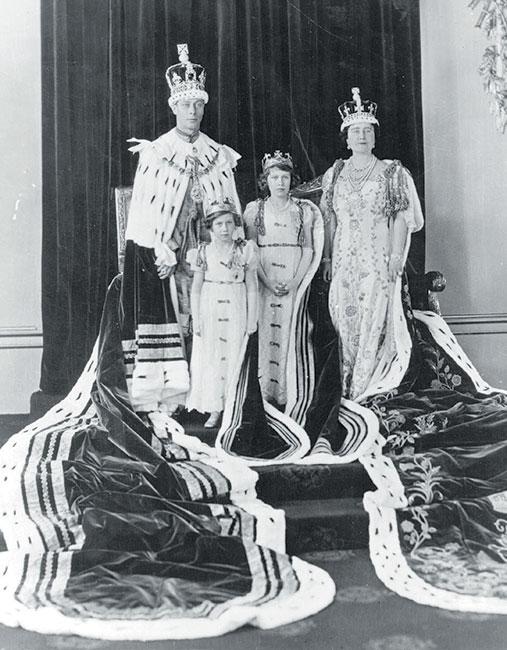 Los reyes y las princesas Isabel y Margarita.