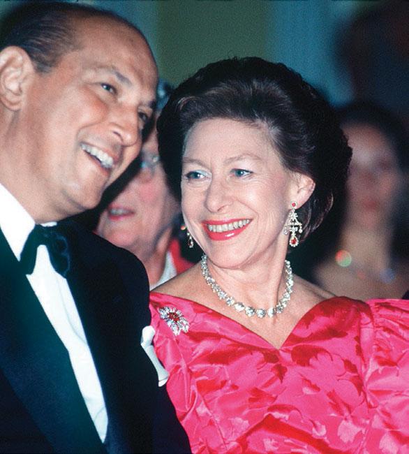 Oscar de la Renta y la princesa Margarita