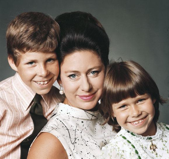La princesa con sus hijos.