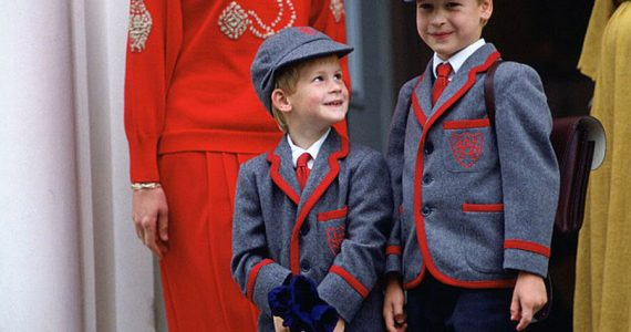 Harry y William regresan a la escuela en 1989