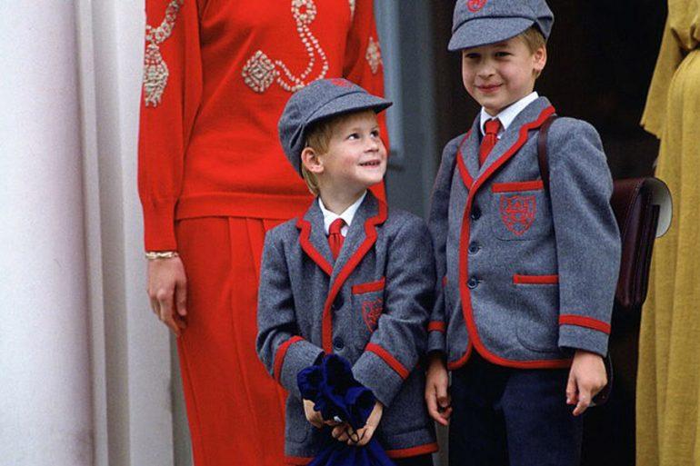 Harry y William regresan a la escuela en 1989
