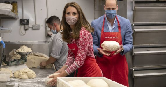 Kate y William haciendo bagels en Londres