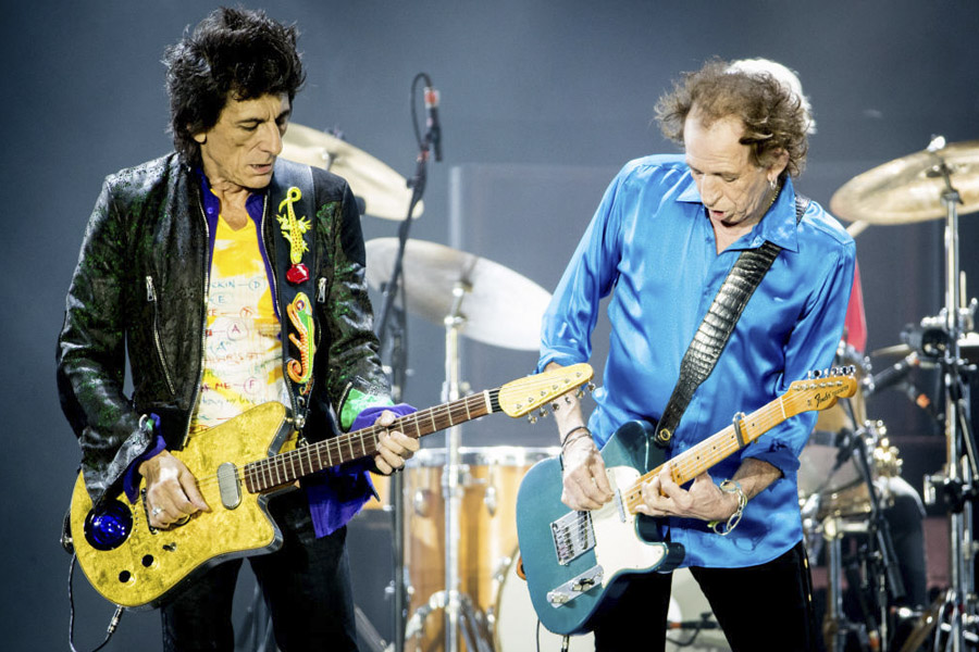 Keith Richards en concierto con Rolling Stones