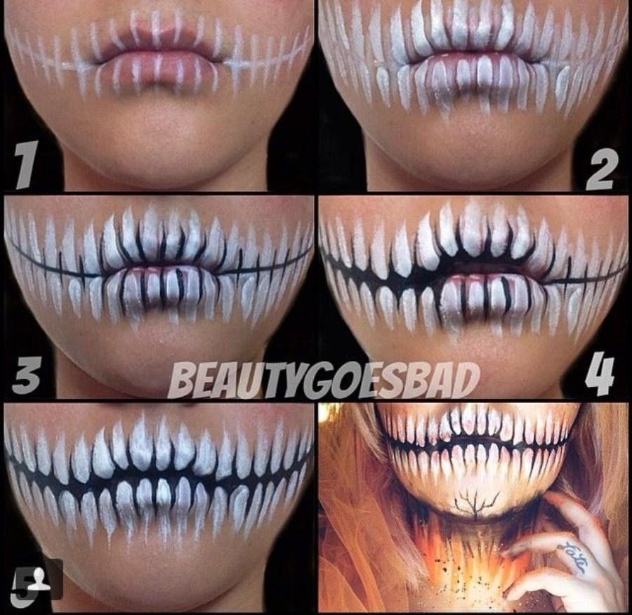 maquillaje de catrina de medio rostro