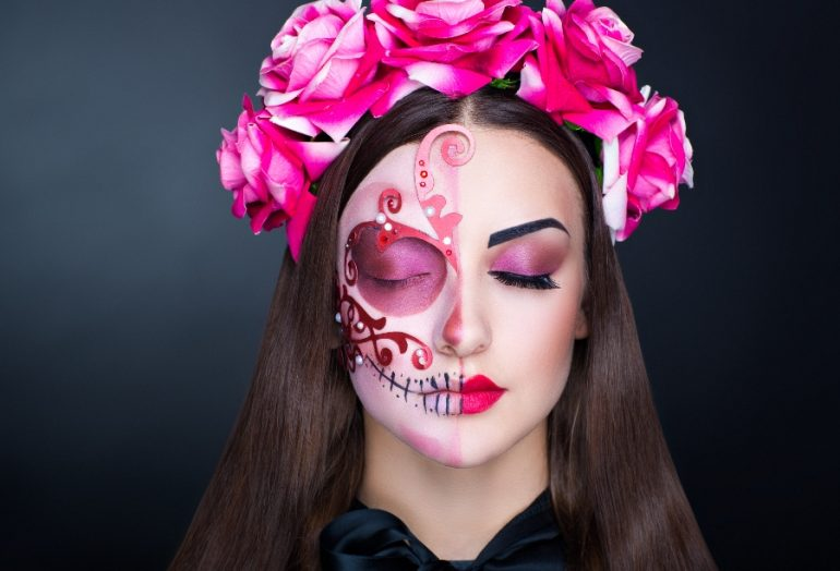 maquillaje de catrina para el dia de muertos