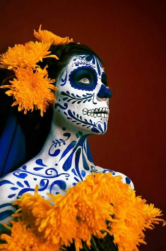 maquillaje de catrina diseño de talavera