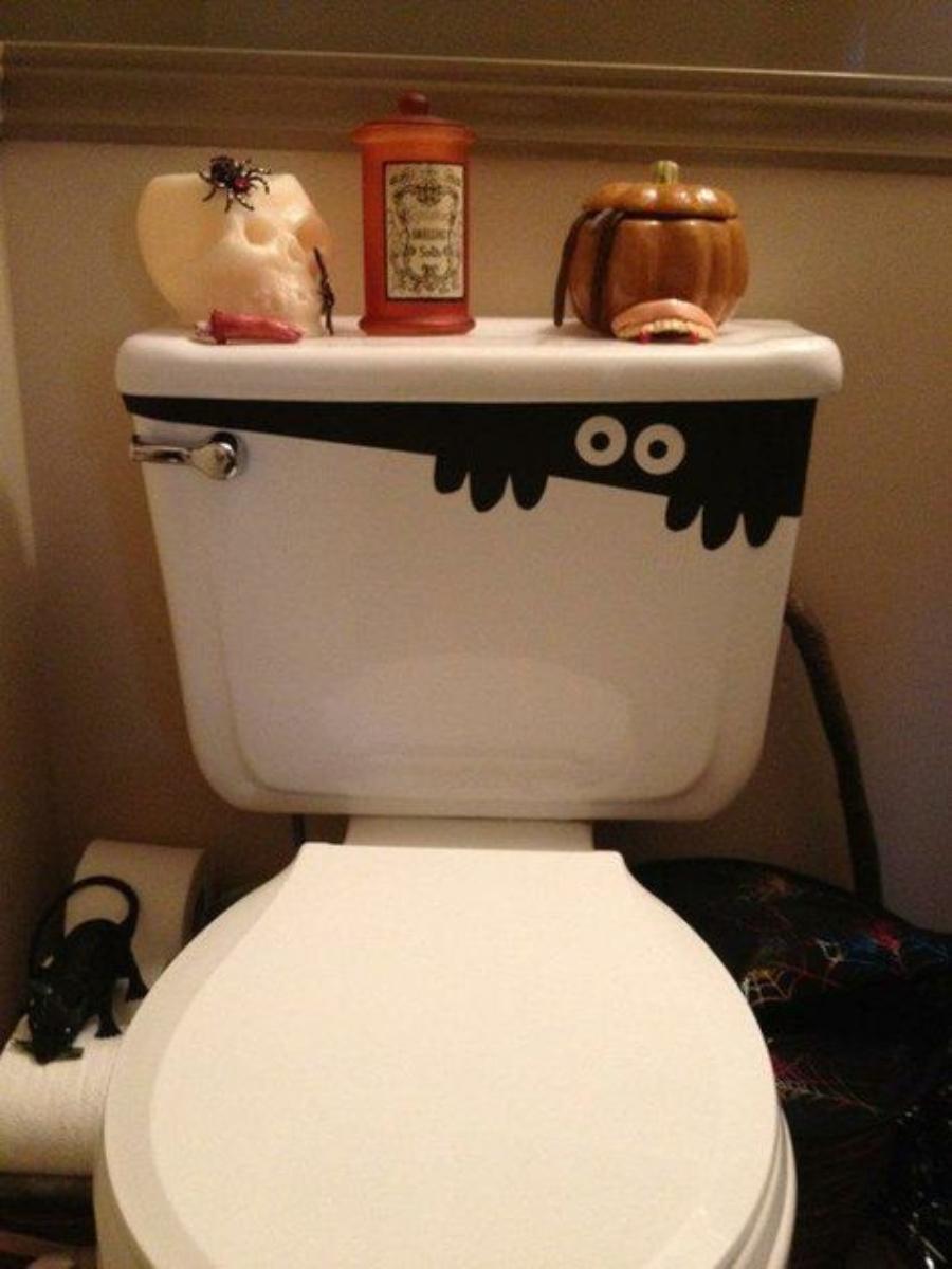 como decorar el baño en halloween
