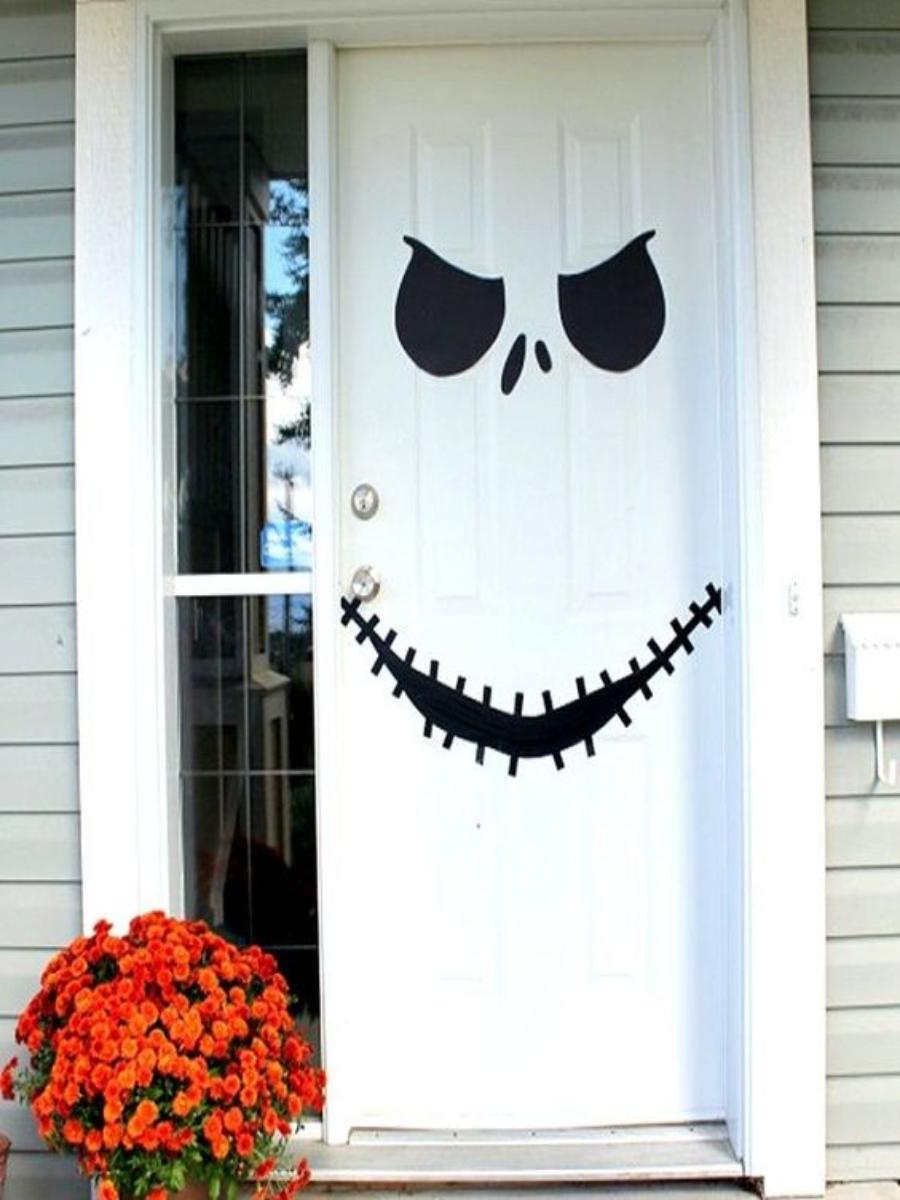 decoraciones de halloween para puertas fáciles