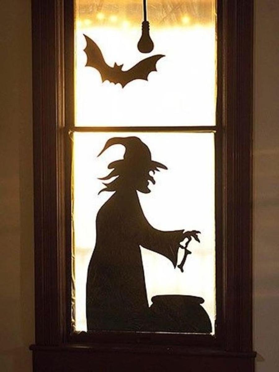 decoración para halloween 2020 en ventanas