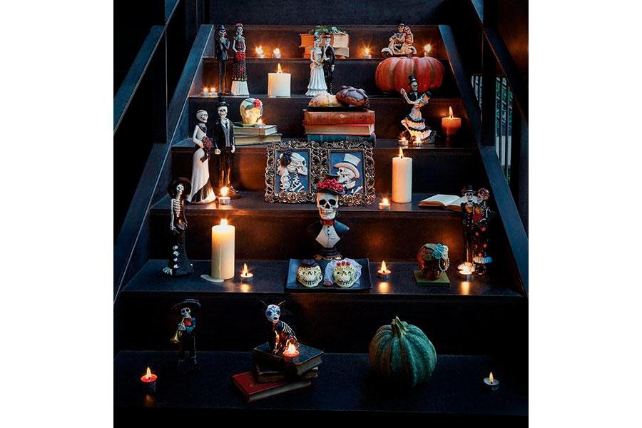 Llegaron Halloween y Día de Muertos decoraciones