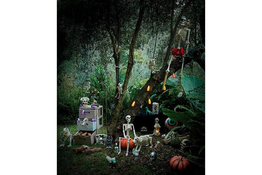 decoración para Halloween y Día de Muertos