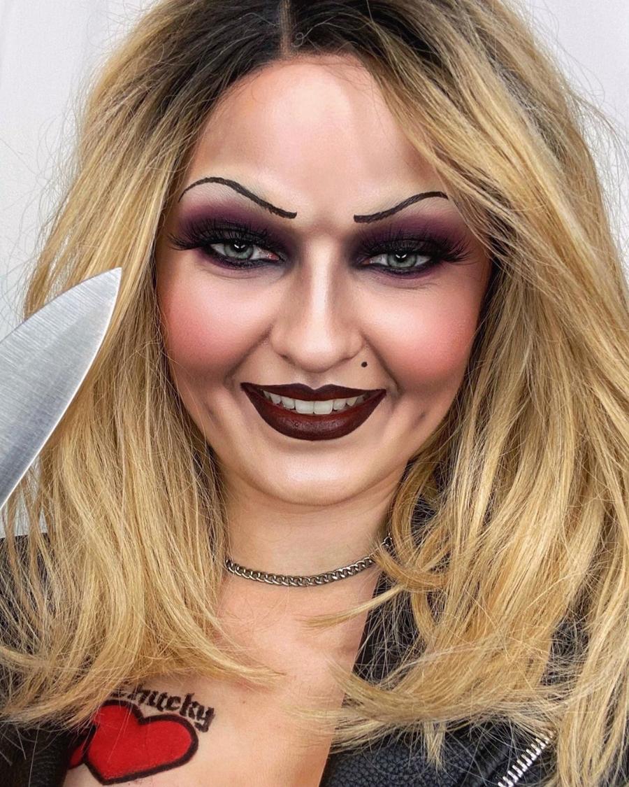 maquillaje en pareja la novia de chucky halloween