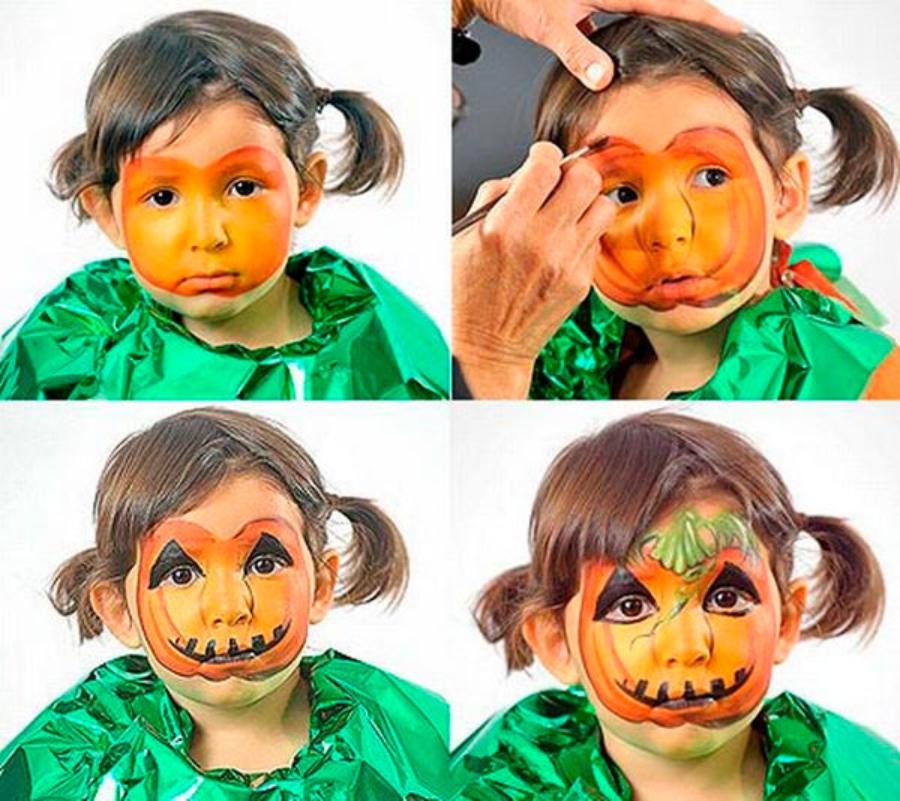 maquillaje de halloween para bebé niña