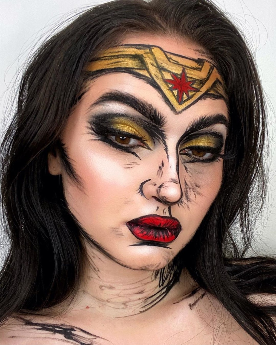 disfrázate de la mujer maravilla con este maquillaje