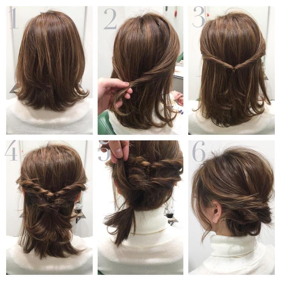 ideas de peinados para cabello corto para una fiesta