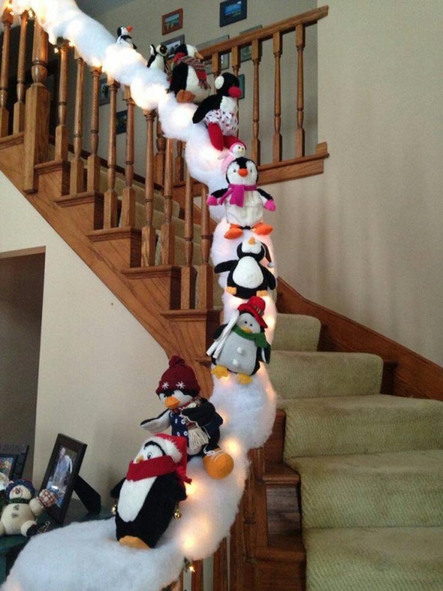 decoracion de navidad para escaleras