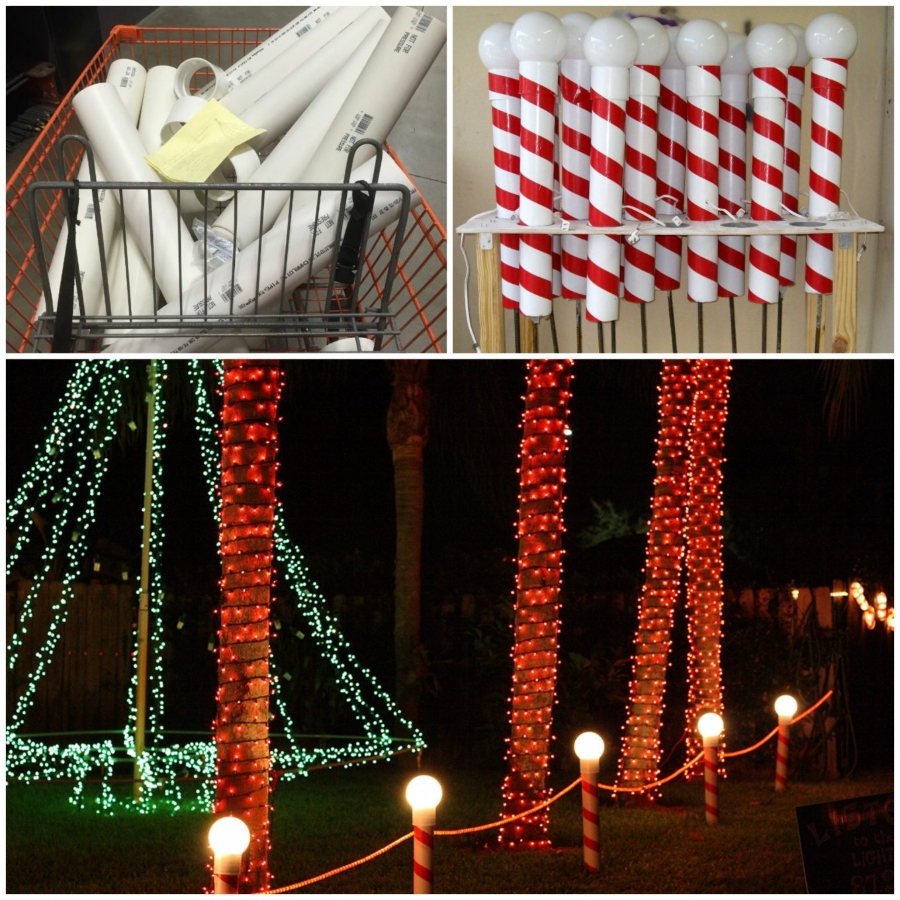 decoracion navideña para jardin caramelos