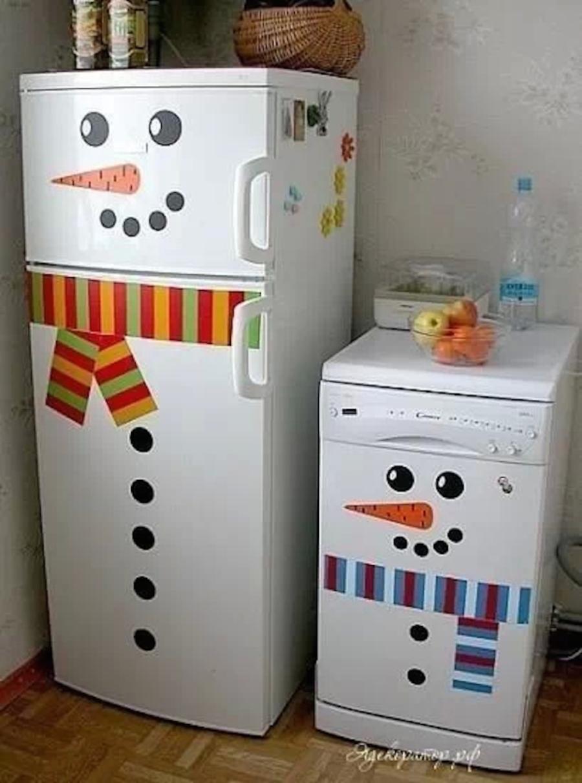 refrigerador decorado de navidad