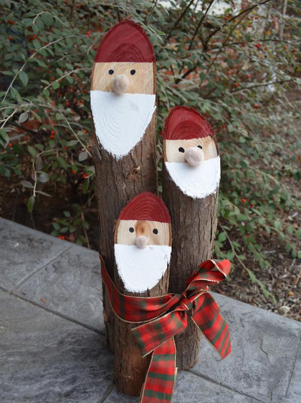 decoracion para navidad para jardin santa claus