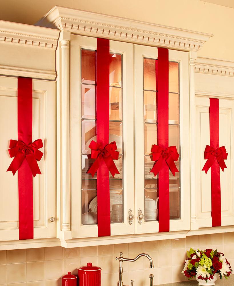 cocina decorada para navidad