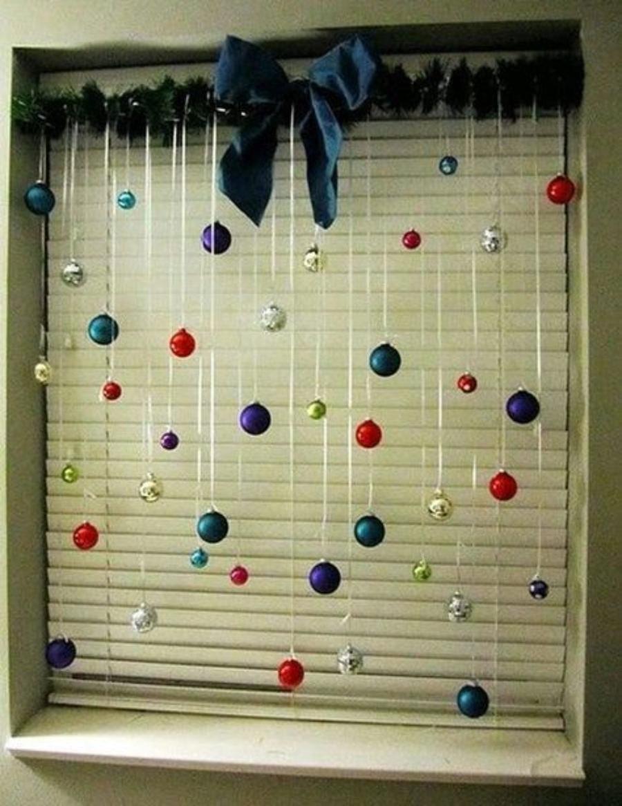 decoraciones navideñas para ventanas esferas