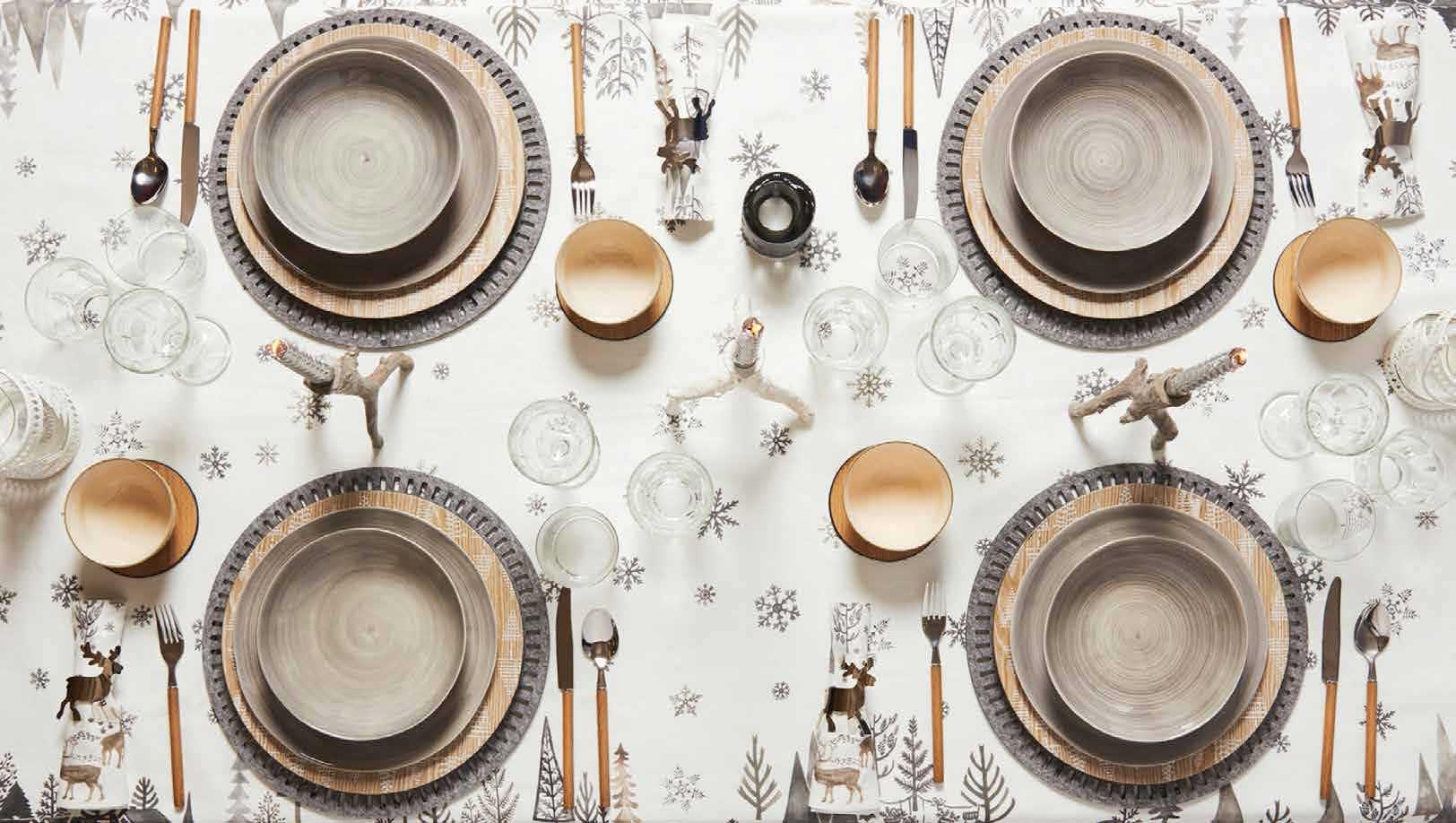 como decorar la mesa en la cena de navidad