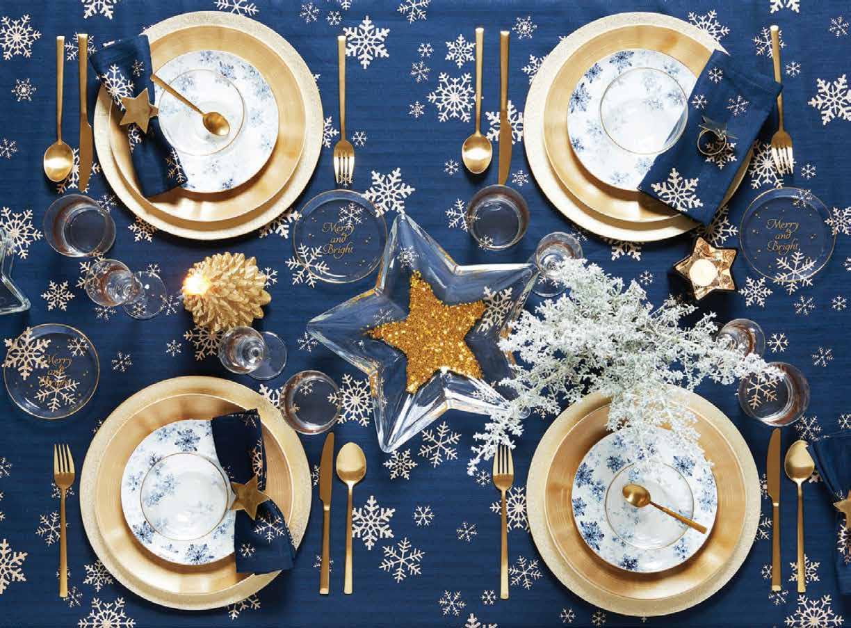 cena de navidad y mesa navidena