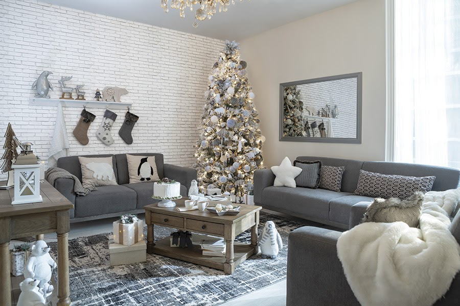 decoración en blanco para árbol de Navidad
