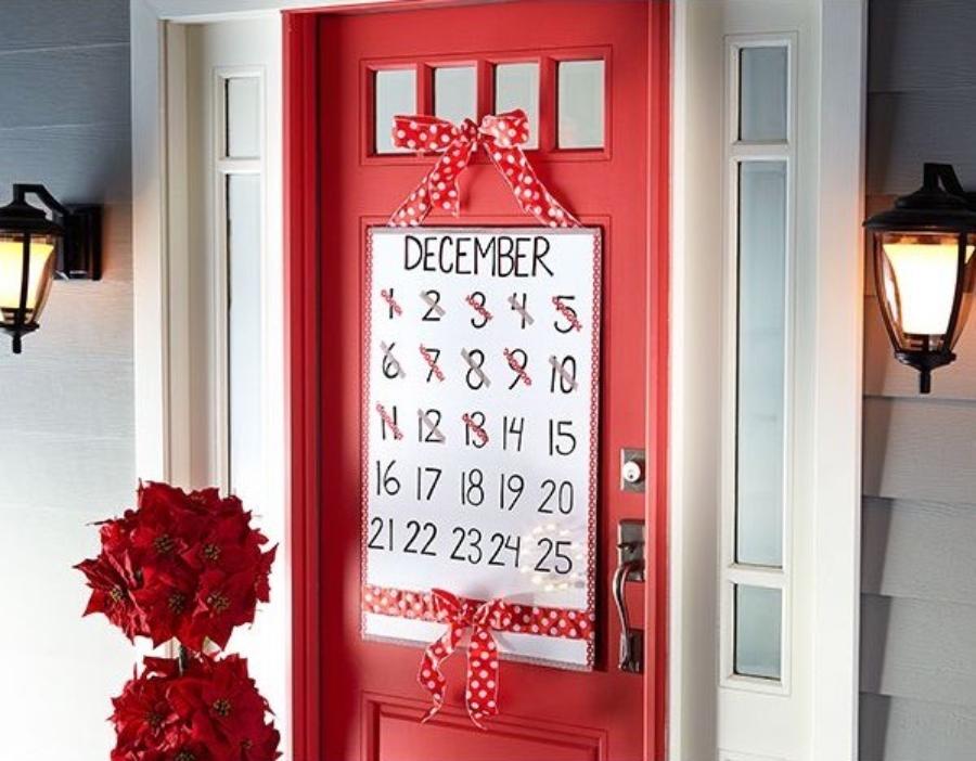 puertas navideñas decoradas calendario