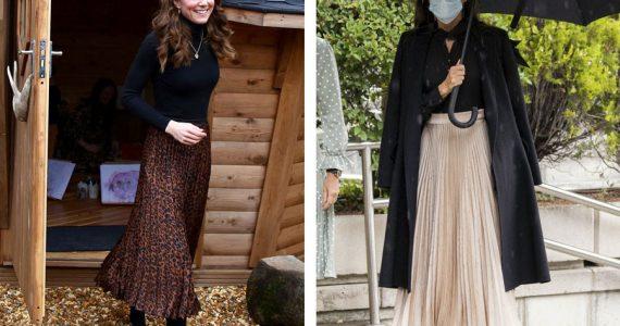 royals falda plisada moda