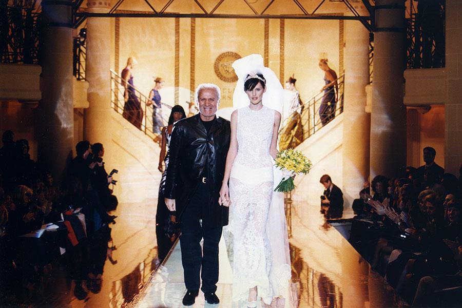 Giani Versace y Stella Tennant
