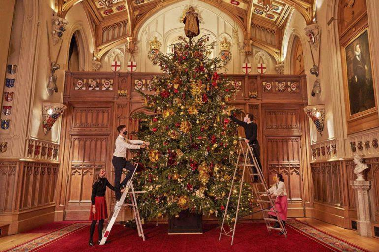 árbol de navidad en windsor