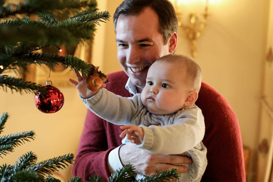 Las hermosas y dulces fotos navideñas del príncipe Charles de Luxemburgo