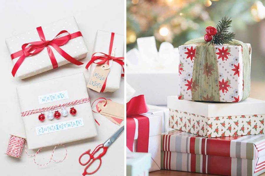 envolturas de regalo navidad