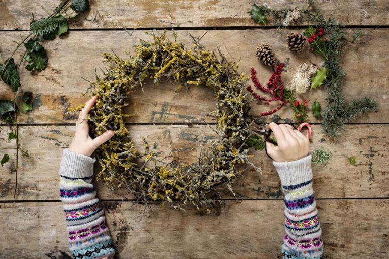 guirnalda navideña navidad