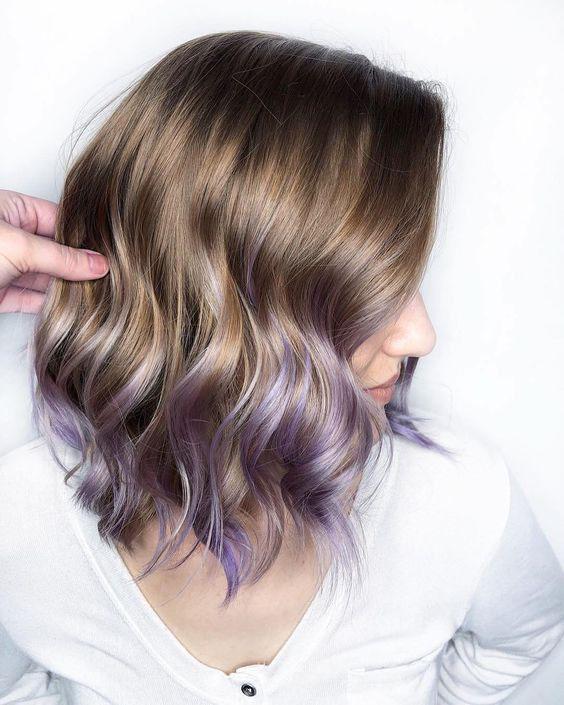 lavender gray cabello