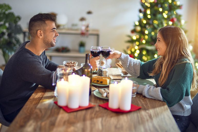 cena navideña y maridaje navidad con vino