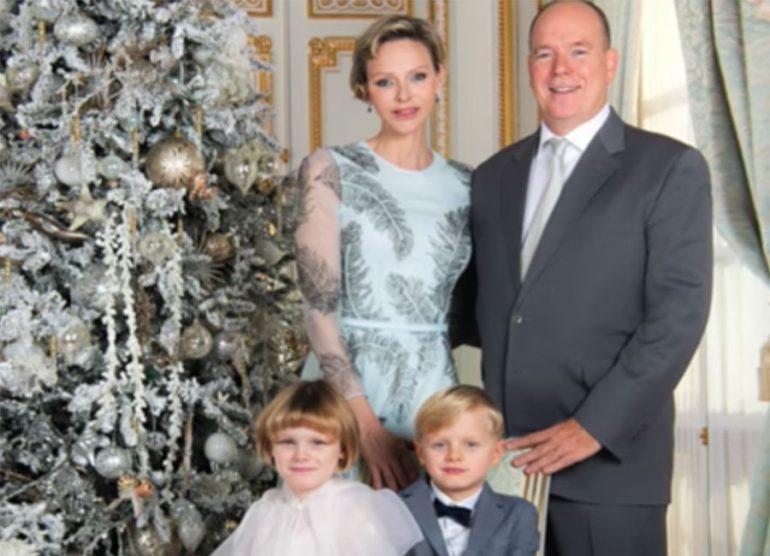 La glamorosa imagen navideña de Alberto de Mónaco, Charlène y sus hijos
