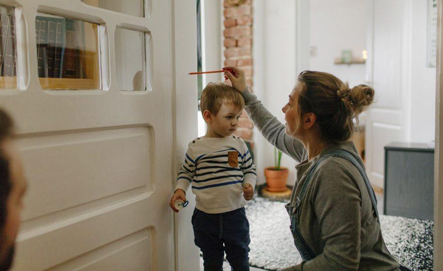crecimiento de los niños familia