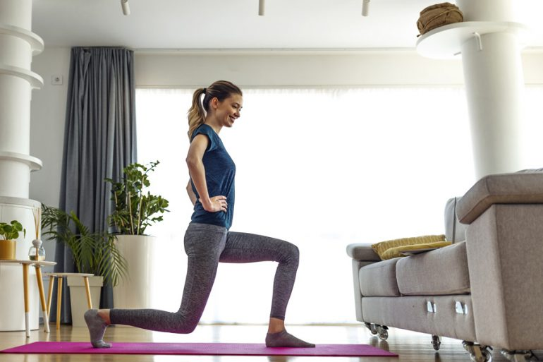 ejercicios dolor de rodillas mujer workout
