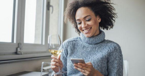 copa de vino bajar de peso