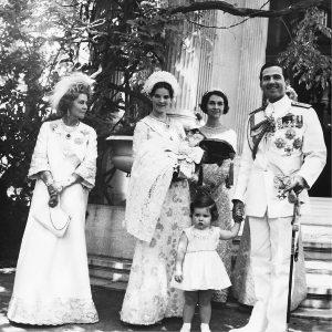 Constantino II de Grecia y su familia. Monarquía de Grecia