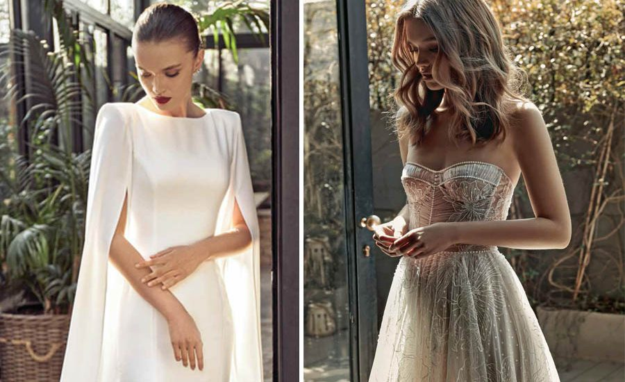 Minimalista, avant-garde o fantasía. Estos diseños de vestido de novia robarán tu corazón. ¡Hora de elegir un estilo!