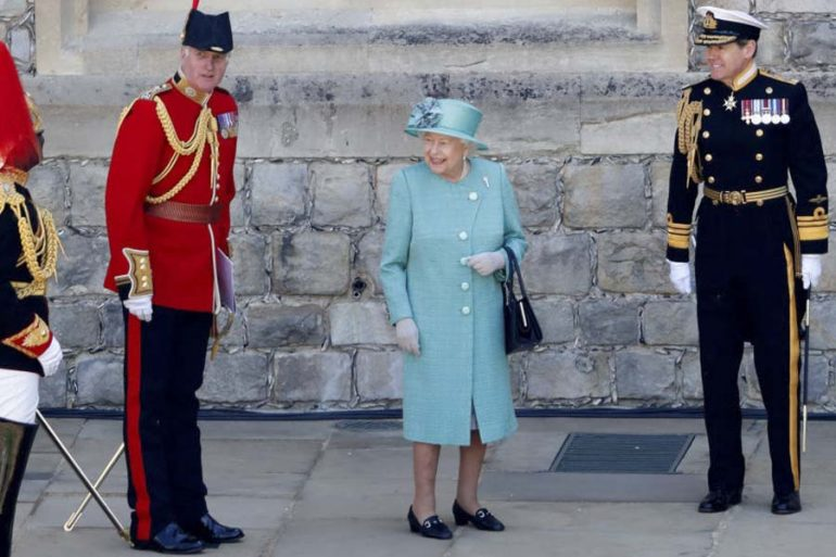 trooping the colour 2020 reina isabel