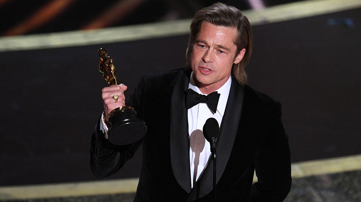 Brad Pitt en el Oscar 2020